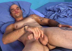 Big Latino Oscar Beats His Meat